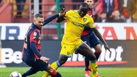 Serie A Frosinone, trauma contusivo al ginocchio destro per Chibsah