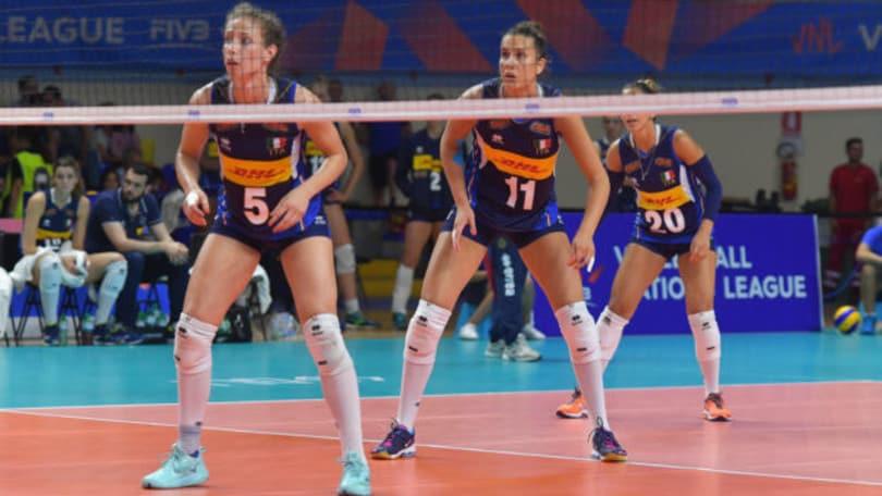Volley: Mazzanti ha scelto le 25 per la Volleyball Nations League