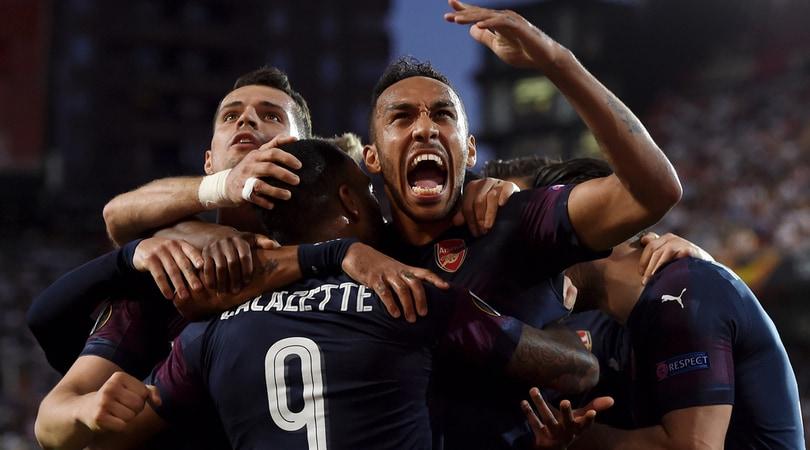 Arsenal in finale: Aubameyang schianta il Valencia