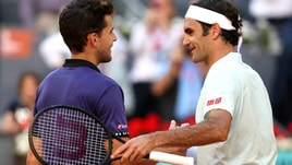 Madrid, Thiem manda a casa Federer: in semifinale c'è Djokovic