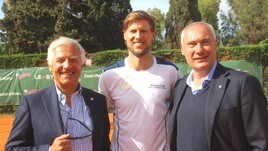 Tennis, Seppi fa visita al CT Eur