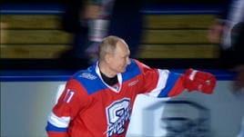 Putin bomber a hockey, 8 goal per lui!