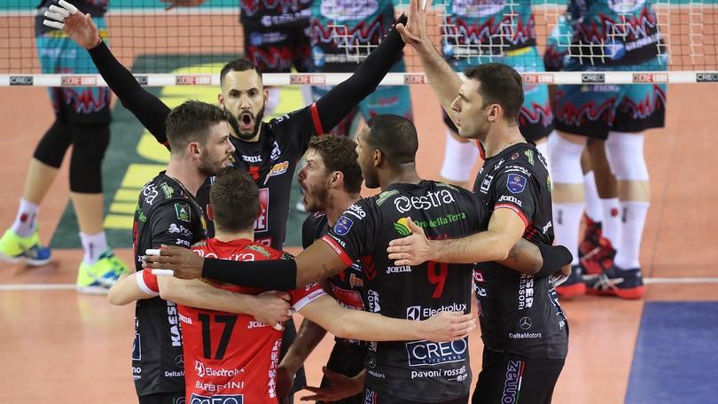Volley: Superlega, Finale scudetto: Civitanova c'è, si va a Gara 5