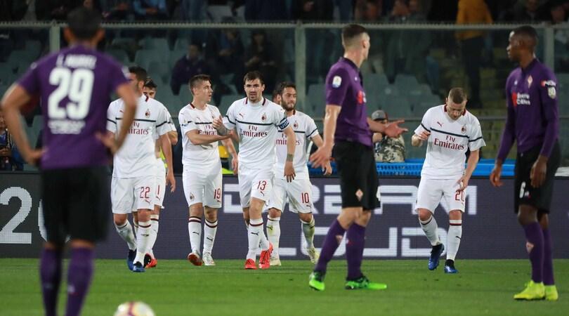 Fiorentina-Milan 0-1: Calhanoglu fa sperare Gattuso