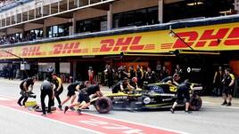 F1 Spagna, la Renault di Hulkenberg partirà dalla pitlane