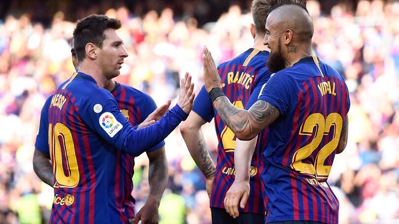 Il Barcellona regala il quarto posto al Valencia a una giornata dal termine