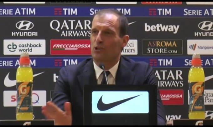 """Allegri: """"Roma mi piace, ma resto alla Juve"""""""