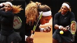 Internazionali, la regina è tornata! Serena Williams in total black