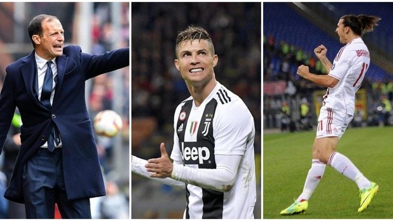 Juventus, Allegri: «Cristiano Ronaldo come Ibrahimovic: si diverte solo se vince»