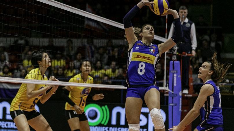 Volley: Nazionale Femminile, le azzurre cedono 3-1 alla Thailandia