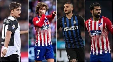 «Via Griezmann e Diego Costa: l'Atletico vuole Dybala e Icardi»