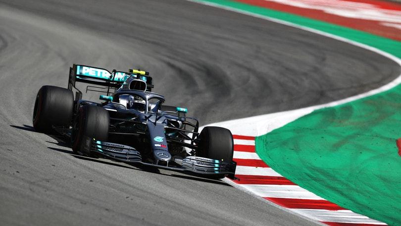 F1, test Barcellona: Bottas davanti a Leclerc in mattinata