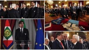 Coppa Italia, Lazio e Atalanta consegnano a Mattarella la propria maglia