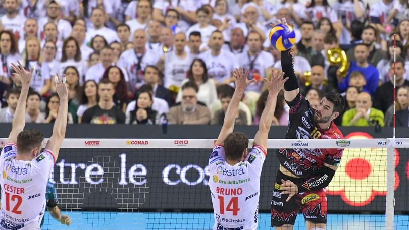 Volley: ascolti record per Gara 5 fra Perugia e Civitanova