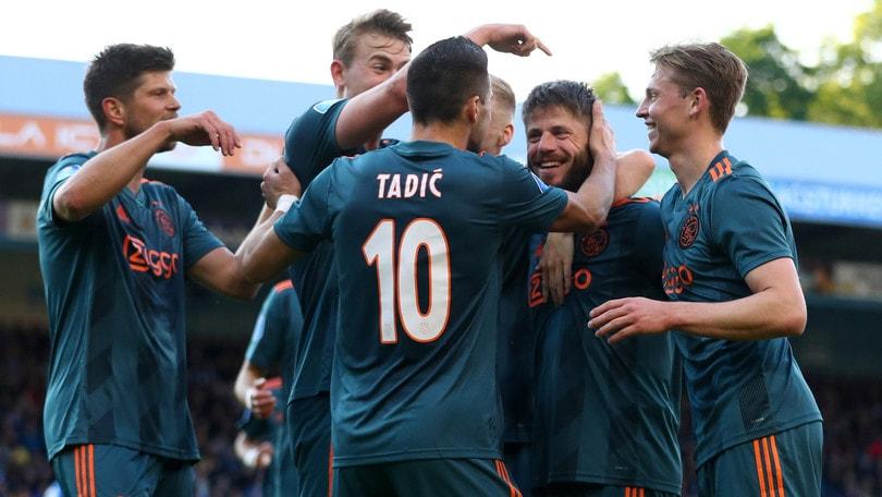 Eredivisie, festa grande Ajax: campione d'Olanda per la 34ª volta
