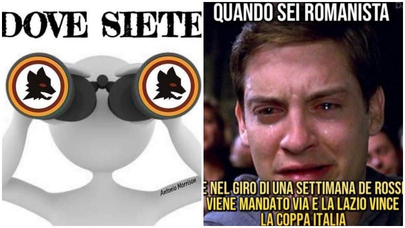 La Lazio vince la Coppa Italia, fioccano le ironie sui tifosi romanisti