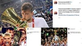 Coppa Italia, trionfo Lazio. I calciatori biancocelesti festeggiano sui social