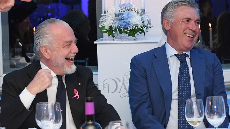 Napoli, De Laurentiis fa gli auguri ad Ancelotti: