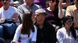Correa e la sua Desiré...al bacio: festa anche agli Internazionali di Roma