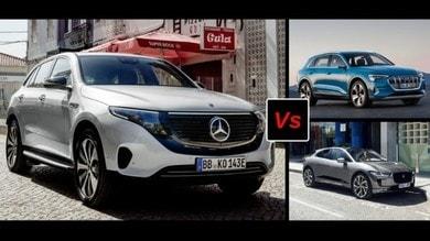 Jaguar i-Pace, Audi e-tron, Mercedes EQC: il confronto tra i Suv elettrici