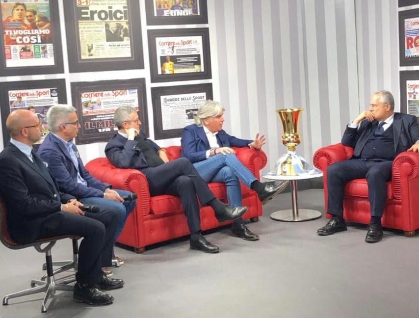 Lotito al Corriere dello Sport con la Coppa Italia: Inzaghi alla Juve?...