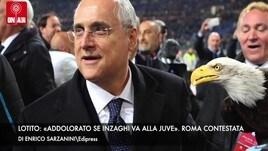 Lotito «Inzaghi lo terrei a vita». Roma, contestazione all'Eur