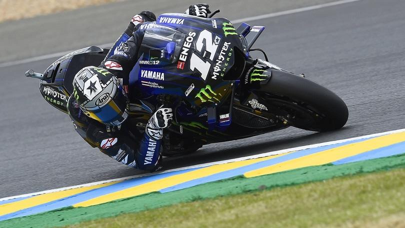 Viñales vola a Le Mans nelle libere, Rossi costretto alla Q1 in MotoGp