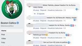 «Free AS Roma», proteste tifosi anche sui social dei Celtics