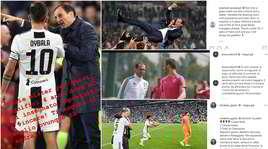 Da Ronaldo a Dybala: la Juve saluta Allegri sui social