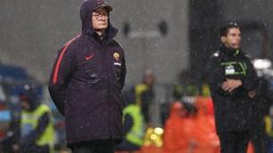Roma, la Champions si allontana sotto il diluvio di Reggio Emilia