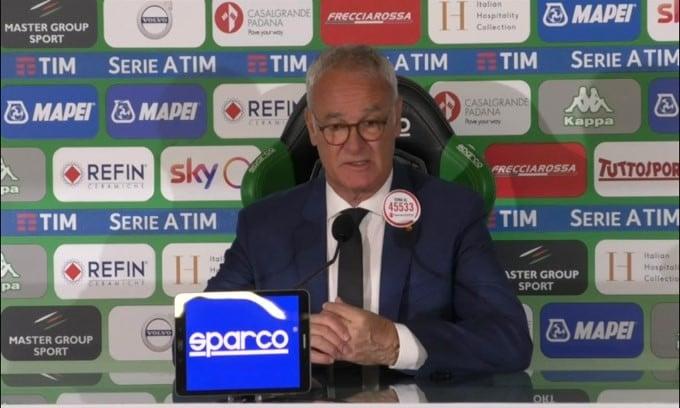 """Ranieri: """"E' mancata un po' di fortuna"""""""