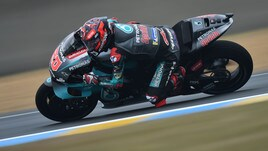 Le Mans: Quartararo primo nel warm up, Rossi decimo