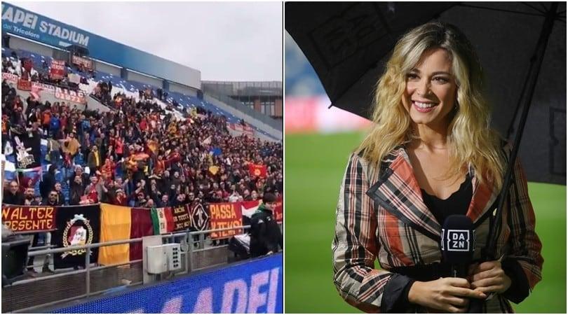 Diletta Leotta idolo dei tifosi della Roma: la curva le dedica un coro
