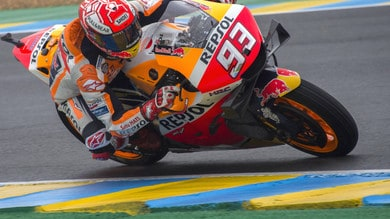 Le Mans, vince Marquez davanti alle Ducati. Rossi quinto