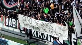 De Rossi omaggiato dai tifosi della Juve con uno striscione allo Stadium