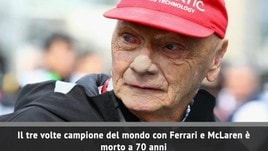 Addio Niki Lauda: il campione austriaco muore a 70 anni