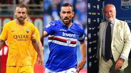 Napoli, De Rossi e non solo: De Laurentiis pensa a Quagliarella