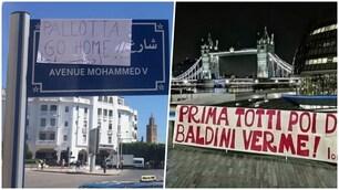 I tifosi della Roma contestano Pallotta in tutto il mondo