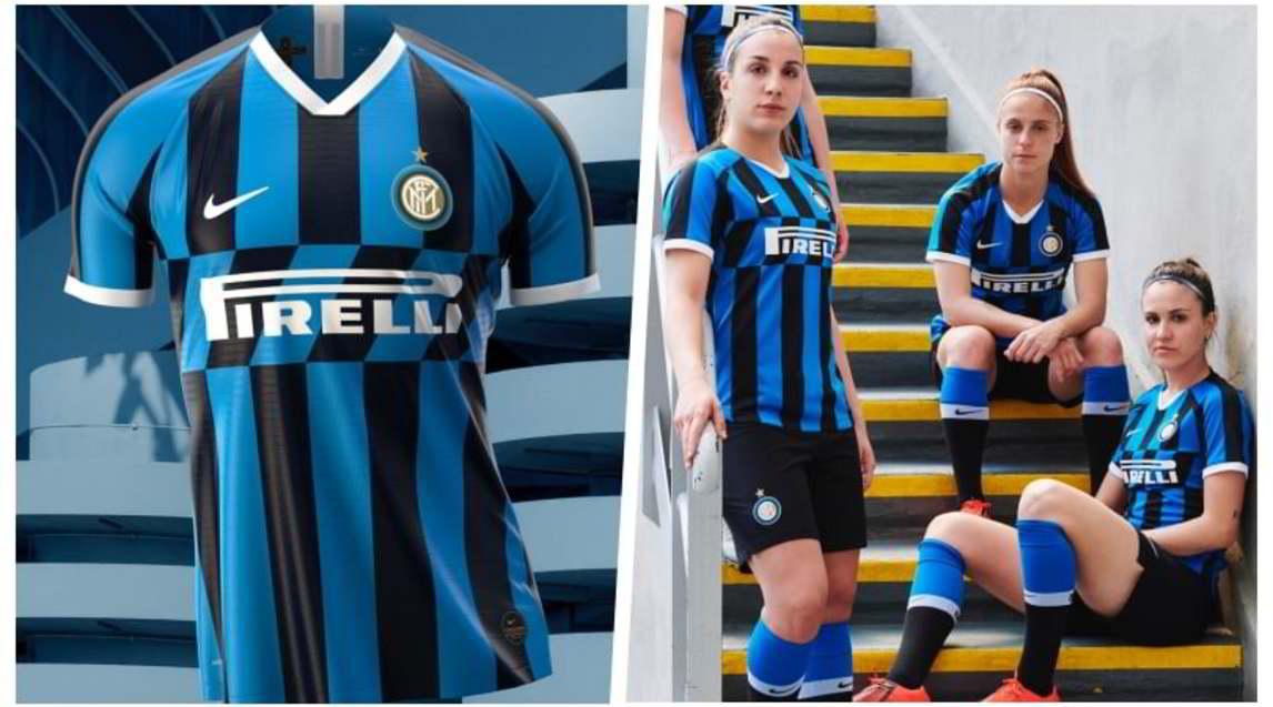 <p>La nuova divisa si ispira alla maglia da trasferta della stagione 1989-90, grazie ad un inserto a strisce diagonali che si estende sul petto, intersecandosi con le tradizionali righe nere e azzurre verticali. Sarà indossata contro l'Empoli</p>