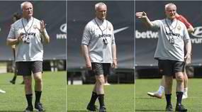 Roma, Ranieri in pantaloncini e calzettoni: si allena insieme alla squadra