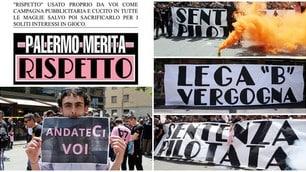 Palermo in C, il sit-in della Curva Nord 12: anche Lotito nel mirino