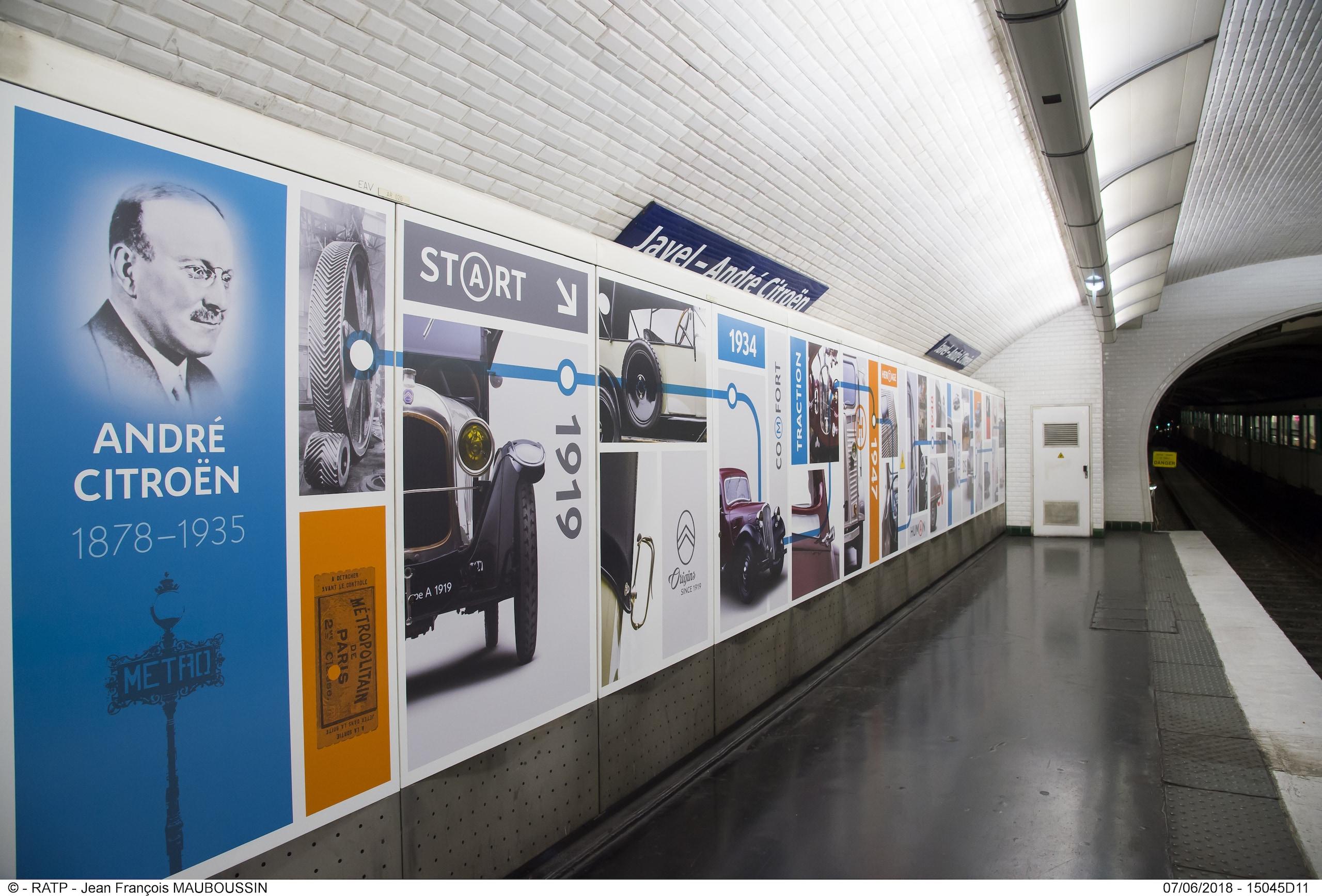 La fermata metro Citroen di Parigi si rinnova  FOTO