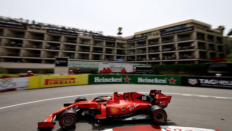 Gp Monaco: terze libere a Leclerc, Vettel out dopo un incidente