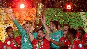 Il Bayern vince la Coppa di Germania nella notte di Ribery e Robben