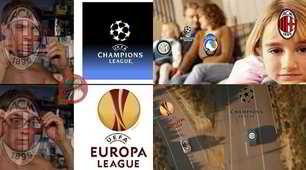 Inter in Champions, Milan in Europa League: social scatenati