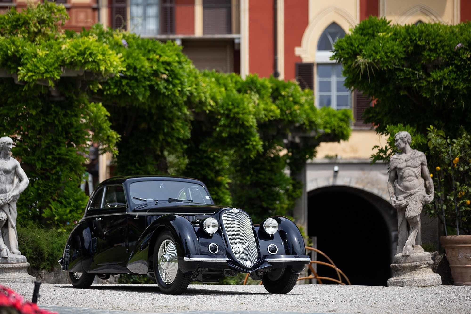 Alfa Romeo 8C 2900B trionfo a Villa d'Este FOTO