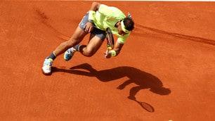 Nadal, che caduta al Roland Garros