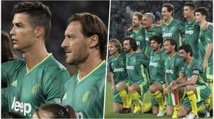 Partita del cuore: Totti gioca con Ronaldo, Nedved e Agnelli!