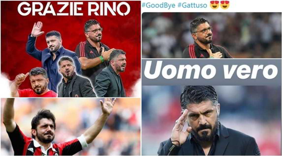 <p>Un addio che sui social ha spezzatoil cuore dei sostenitori del Milan, completamente dalla parte del loro allenatore-tifoso: fioccano i messaggi di affetto</p>