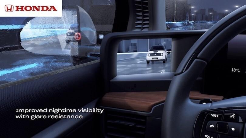 Honda E, telecamere al posto degli specchietti